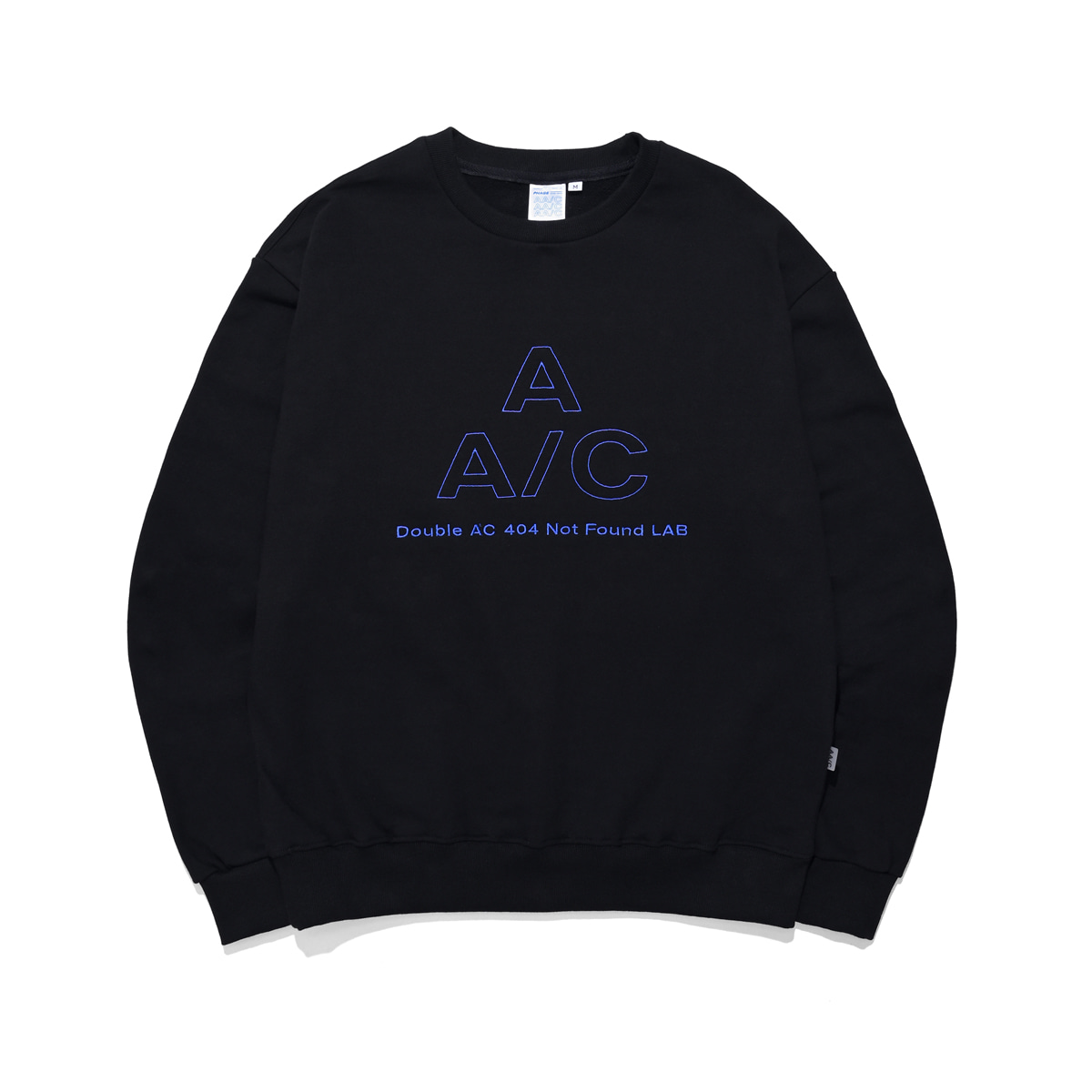 EMBROIDERED LOGO CREWNECK (black)