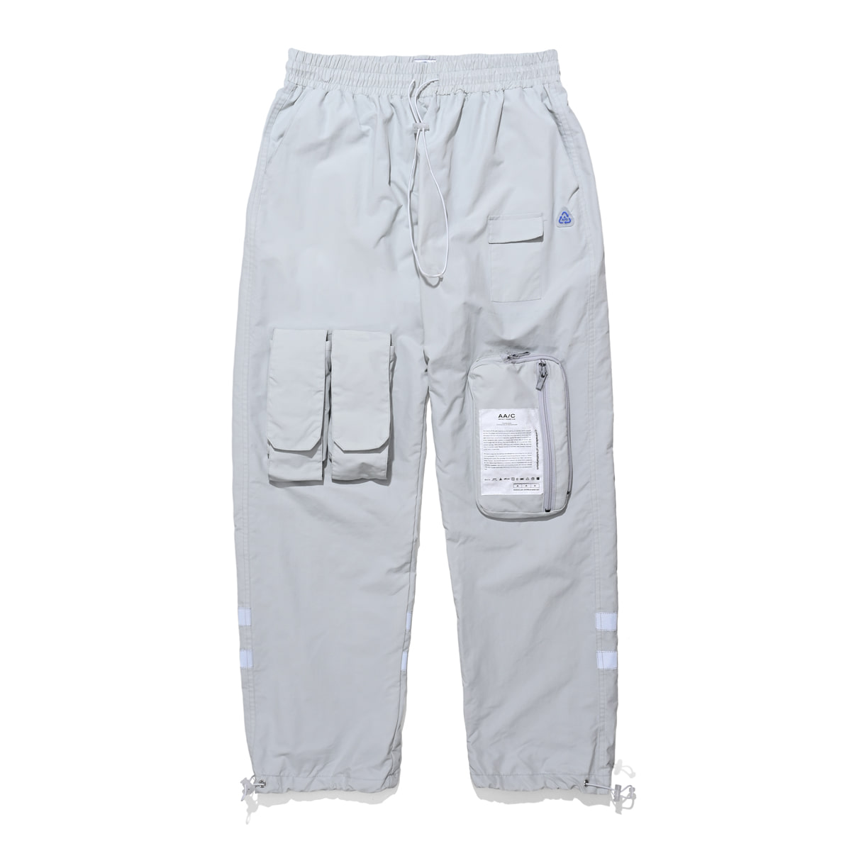 8 pocket smock pants (gray)