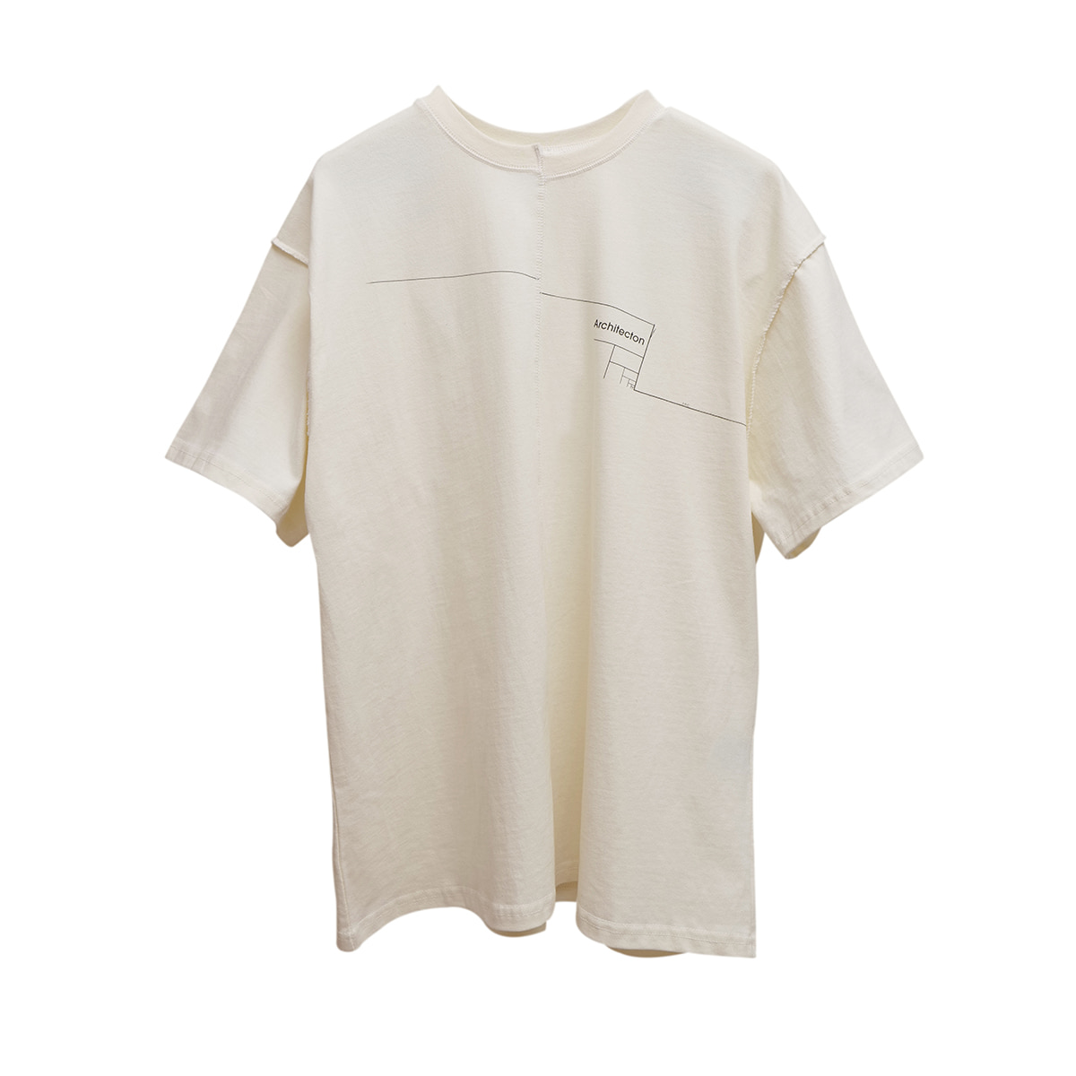 Distorted Architecton T-shirt (ivory)