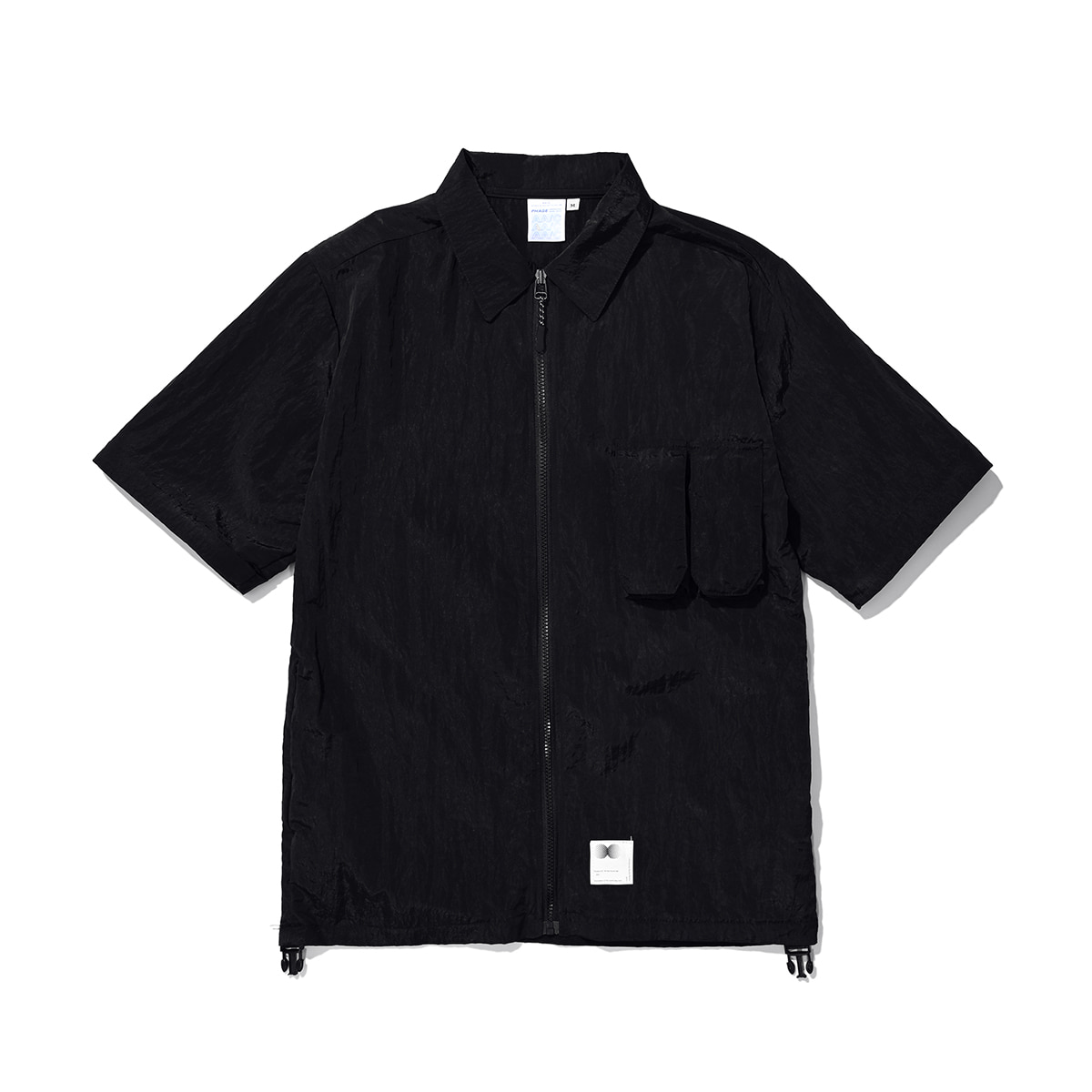 Zippered Hybrid Over-Shirt (black)