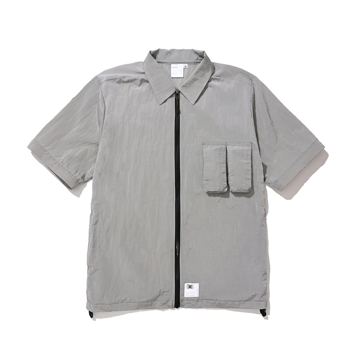 Zippered Hybrid Over-Shirt (gray)