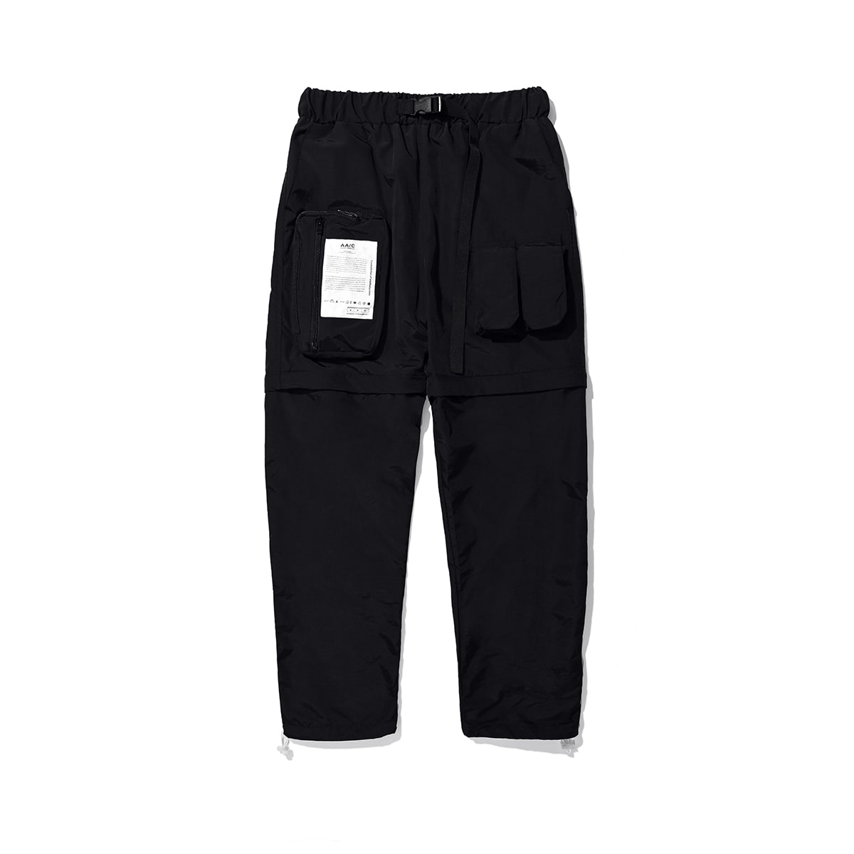 Zippered Hybrid Shorts/Pants (black)