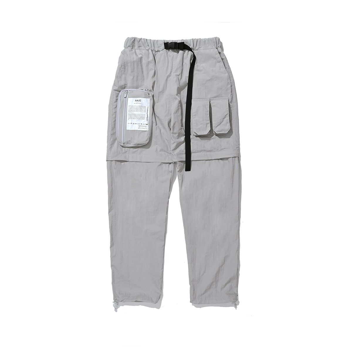 Zippered Hybrid Shorts/Pants (gray)