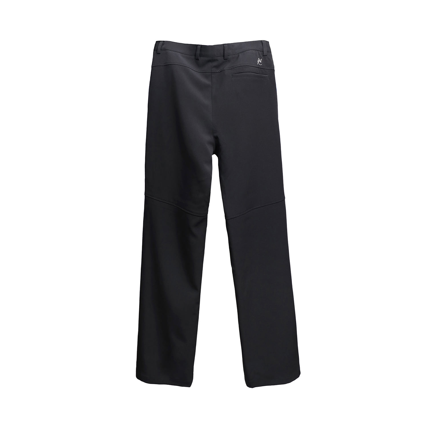 Zippered Straight/Bootcut Trouser (black)